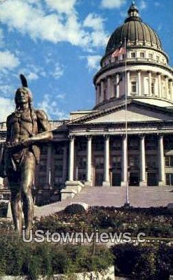 Chief Massasoit, Utah State Capitol - Salt Lake City Postcard