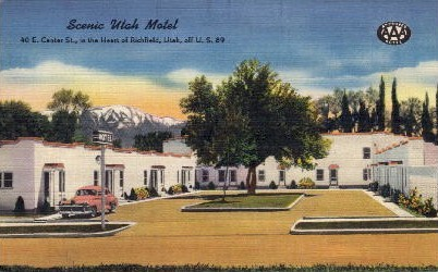 Scenic Utah Motel - Richfield Postcard