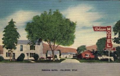 Robinson Hotel - Fillmore, Utah UT Postcard