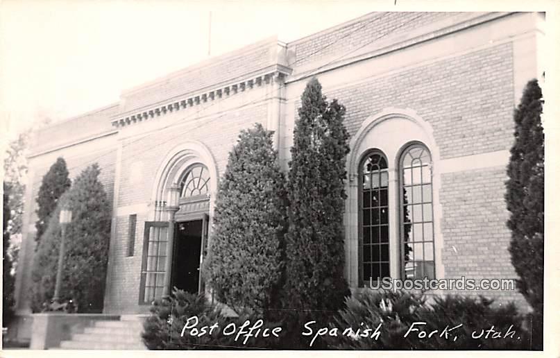 Post Office - Spanish Fork, Utah UT Postcard