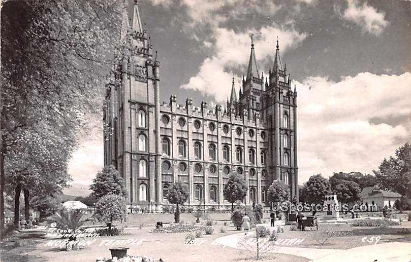 Normon Temple - Salt Lake City, Utah UT Postcard
