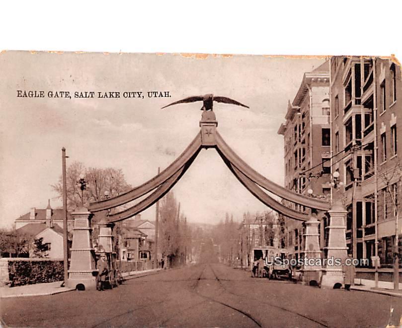 Ealge Gate - Salt Lake City, Utah UT Postcard