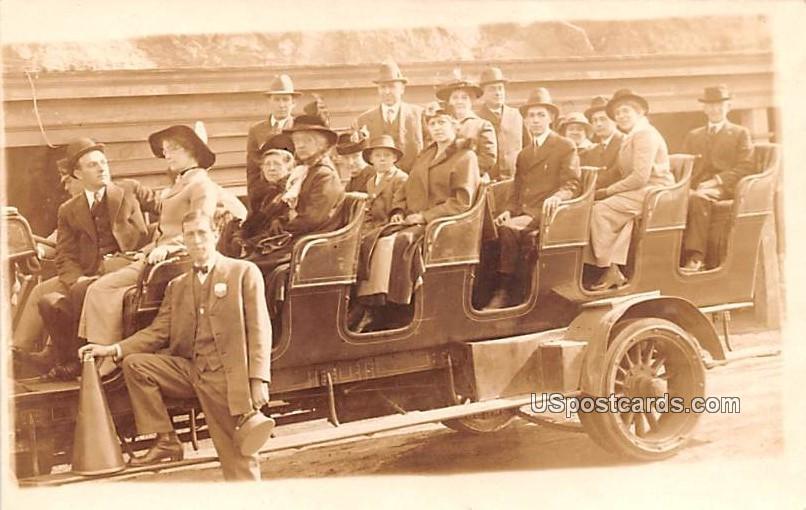 Group of People in Automobile - Salt Lake City, Utah UT Postcard