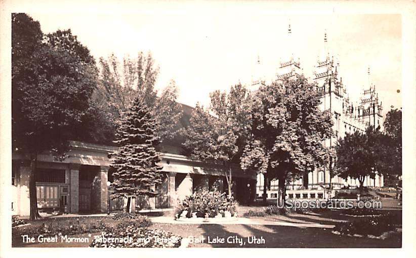 Great Mormon Tabernacle and Temple - Salt Lake City, Utah UT Postcard
