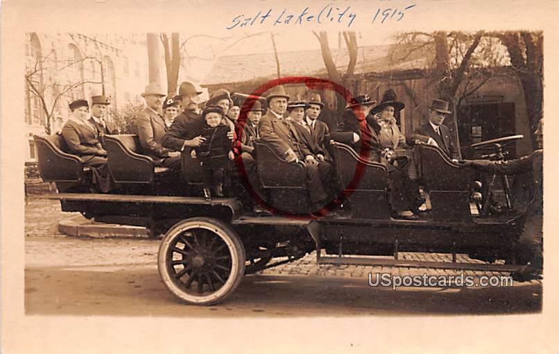 Seeing Salt Lake, Observation Cars and Automobiles - Salt Lake City, Utah UT Postcard