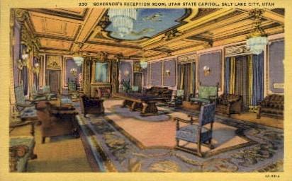 Governor's Reception Room - Salt Lake City, Utah UT Postcard