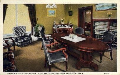 Governor's Private Office - Salt Lake City, Utah UT Postcard