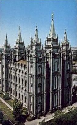 Salt Lake Temple - Salt Lake City, Utah UT Postcard