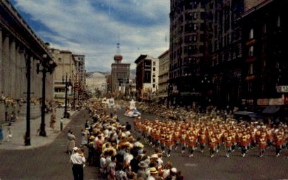 Main Street - Salt Lake Valley, Utah UT Postcard