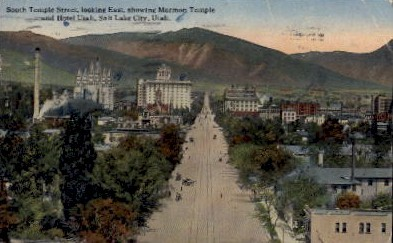South Temple Street - Salt Lake City, Utah UT Postcard