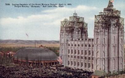 Great Mormon Temple - Salt Lake City, Utah UT Postcard