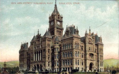 City and County Building - Salt Lake City, Utah UT Postcard