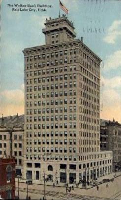 The Walker Bank Building - Salt Lake City, Utah UT Postcard