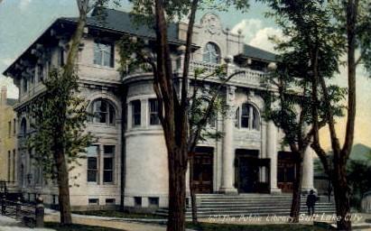 Public Library - Salt Lake City, Utah UT Postcard