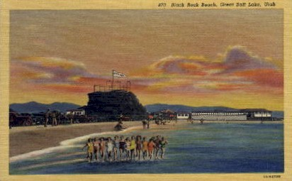 Black Rock Beach - Salt Lake City, Utah UT Postcard