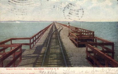 Southern Pacific Railroad - Salt Lake City, Utah UT Postcard
