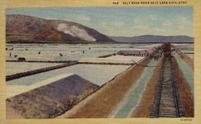 Salt Beds - Salt Lake City, Utah UT Postcard