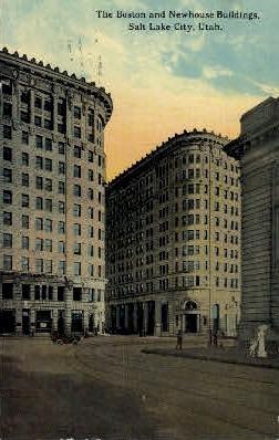 The Boston and New House Buildings - Salt Lake City, Utah UT Postcard