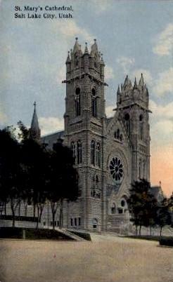 St. Mary's Cathedral - Salt Lake City, Utah UT Postcard