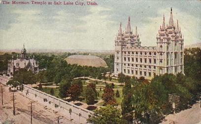 The Mormon Temple - Salt Lake City, Utah UT Postcard