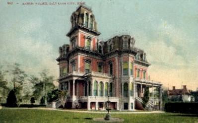 Amelia Palace - Salt Lake City, Utah UT Postcard