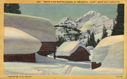 King Winter - Salt Lake City, Utah UT Postcard