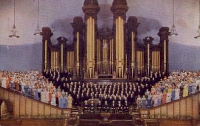Mormon Tabernacle Choir - Salt Lake City, Utah UT Postcard