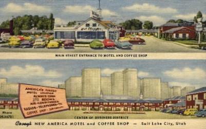 New America Hotel and Coffee Shop - Salt Lake City, Utah UT Postcard