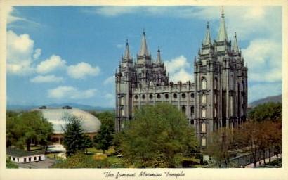 The Famous Mormon Temple - Salt Lake City, Utah UT Postcard