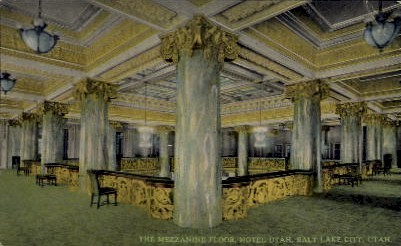 The Mezzanine Floor - Salt Lake City, Utah UT Postcard
