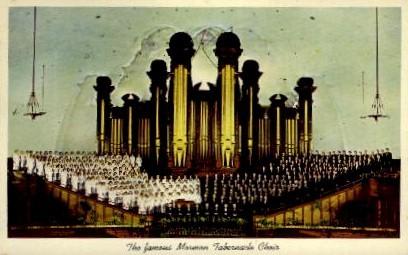 The Famous Mormon Tabernacle Choir - Salt Lake City, Utah UT Postcard