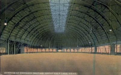 Interior of Pavilion - Salt Lake City, Utah UT Postcard