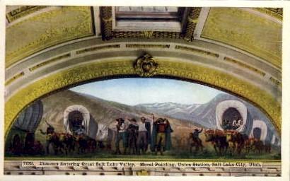 Great Salt Lake Valley - Utah UT Postcard