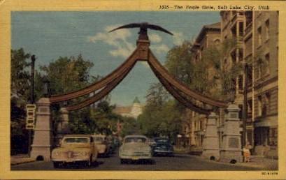 The Eagle Gate - Salt Lake City, Utah UT Postcard
