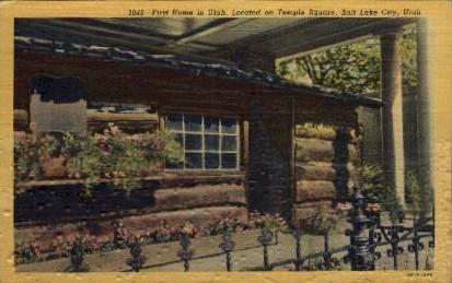 First Home in Utah - Salt Lake City Postcard