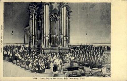 Great Organ and Choir - Salt Lake City, Utah UT Postcard