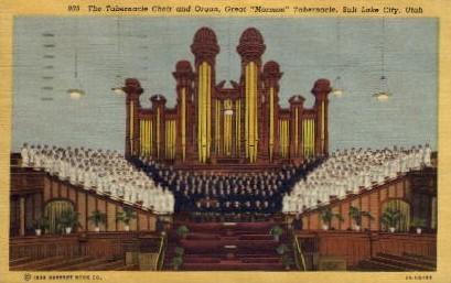The Tabernacle Choir and Organ - Salt Lake City, Utah UT Postcard
