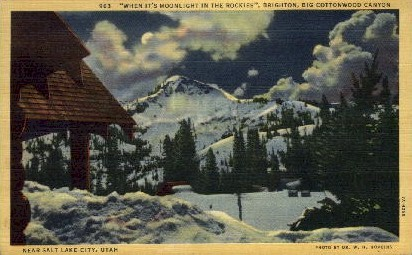 Big Cottonwood Canyon - Salt Lake City, Utah UT Postcard