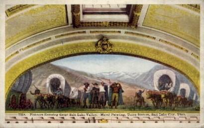 Great Salt Lake Valley - Salt Lake City, Utah UT Postcard