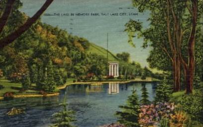 Memory Park - Salt Lake City, Utah UT Postcard