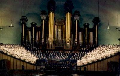 The Mormon Tabernacle Choir - Salt Lake City, Utah UT Postcard