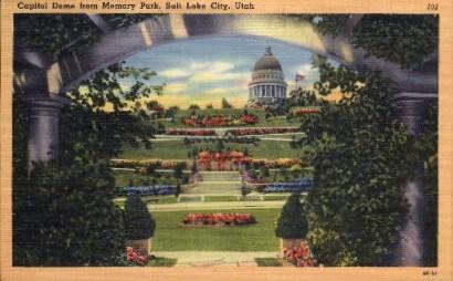 Capitol Dome - Salt Lake City, Utah UT Postcard