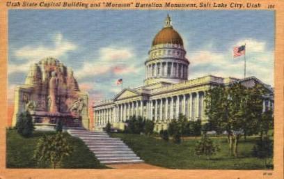 Utah State Capitol Building - Salt Lake City Postcard