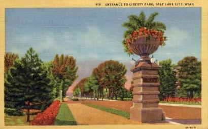 Liberty Park - Salt Lake City, Utah UT Postcard