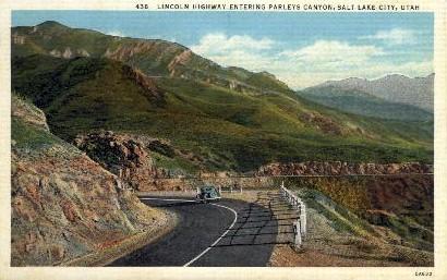 Parleys Canyon - Salt Lake City, Utah UT Postcard