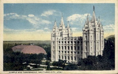 Temple and Tabernacle - Salt Lake City, Utah UT Postcard