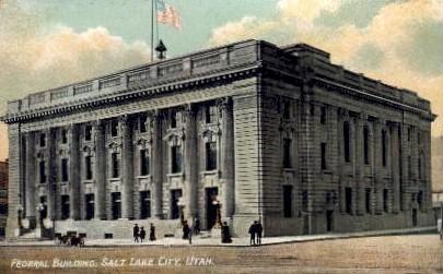 Federal Building - Salt Lake City, Utah UT Postcard