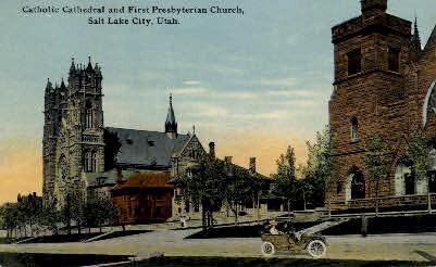 Catholic Cathedral - Salt Lake City, Utah UT Postcard