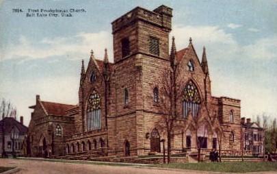 First Presbyterian Church - Salt Lake City, Utah UT Postcard