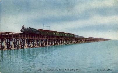 Lucin Cut-off - Salt Lake City, Utah UT Postcard